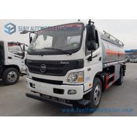 China Foton Oil Tank Truck 4*2 Fuel Tank Truck 138 HP carbon steel Tanker Truck on sale