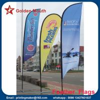 Wholesale Custom Outdoor Feather Banner Flags with Dye Sublimation Printing from china suppliers