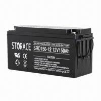 Wholesale 150Ah Solar Battery for Wind Power System with 12V Rated Voltage from china suppliers