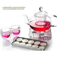Wholesale Borosilicate Glass Tea Set, Crystal Clear Glass Teapot With Warmer from china suppliers
