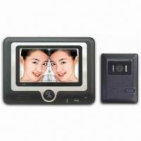 Wholesale Four-wire 7-inch Color Video Door Phone with Rain-resistant Camera and Optional Eight Chord Ring from china suppliers
