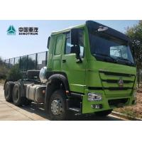 Wholesale HOWO Drawing Head Tractor Truck LHD Single Berth Cabin 10 Wheels Green Color from china suppliers