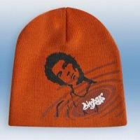 Wholesale 100% Acrylic Knitted Hat with Print, Weight of 53g from china suppliers