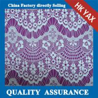 Wholesale 2014 china factory wholesale  Good sale white floral cotton nylon lace fabric YAXL-1501 from china suppliers