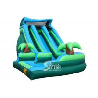 Wholesale Outdoor commercial kids giant inflatable curve water slide with pool made of best pvc tarpaulin from Sino Inflatables from china suppliers