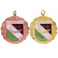 Brass / Copper / Pewter Custom Awards Medals with Soft Enamel, Gold / Copper Plated