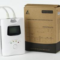 China Carbon monoxide detector with 9V back up battery and LCD screen for home use for sale