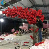 China One Side Long Canopy Artificial Flower Tree , Customized Cherry  Blossom Tree for sale