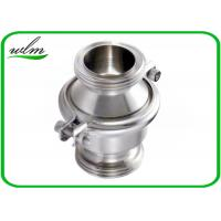 Sanitary SS Check Valve , High Temperature Check Valve With Male Thread End