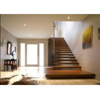 China Diy Design Modern Floating Stairs , Fancy Steel And Wood Staircase Design on sale