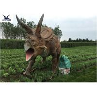Wholesale Life Size Farm Animal Models , Full Size Triceratops Dinosaur Lawn Sculpture from china suppliers