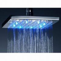 China 10-inch LED Shower with Chrome-plated, Made of Brass on sale