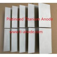 China 1 micrometer thickness Platinized Titanium anodes for sale
