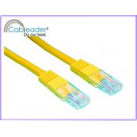 China High Speed Cat5e Network Cables with Yellow Color on sale