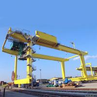 China Port Yard Container Gantry Crane Double Girder Movable Rail Mounted 18.2m Lift on sale
