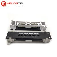 China RJ45 Krone IDC Network Patch Panel 8 Port Wall Mount  MT4005-B With Frame on sale