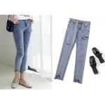 China XS - XXL Ladies Denim Jeans Light Wash Rip And Repair Ladies Skinny Jeans for sale