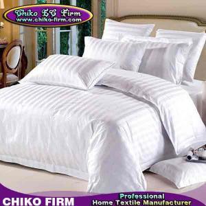 China OEM 3cm Stripes Design 250TC-330TC 100% Cotton Hotel Bedding Sets on sale