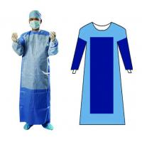 Quality SMS Non Woven Disposable Surgical Gown Blue Color OEM For Protection for sale