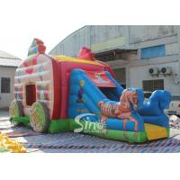 Wholesale Kids Pink Princess Carriage Inflatable Bouncy Castle Slide With Lead Free Material from china suppliers