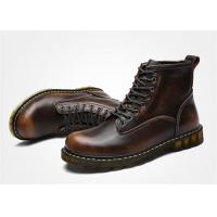 Wholesale Cowhide Oil Leather Lace Up Ankle Boots , Doc Martin Mens Boots EU 35-44 Size from china suppliers