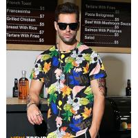 Wholesale 2019 Men's New Latest Fashion Design All Over Printed Short Sleeve T Shirt from china suppliers