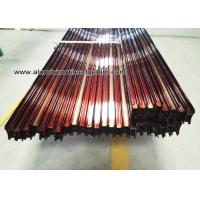 Wholesale Custom Extruded Aluminum Extrusions / Profiles For Sliding Door Wood Grain Effect from china suppliers