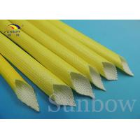 Wholesale Yellow F Class Acrylic Fiberglass Sleeving Electrical Heat Protection Sleeve from china suppliers