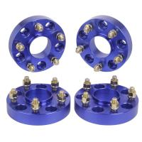 Blue color Jeep Wrangler JK Rubicon Hub Centric 1.5 Wheel Spacers 5x5 to 5x5 for sale