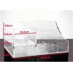 China Transparent Acrylic Desk Organizer Stationery Storage Holder Counter Display Box for sale