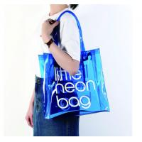 Wholesale Clear PVC Clear Tote Bag , Logo Printing Custom Blue PVC Travel Bag from china suppliers