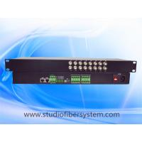 Wholesale 16ch analog video+16ch audio+2ch ethernet+2bidi RS485/232 to fiber converter in 1U rack mount chassis for CCTV system from china suppliers