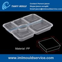 Wholesale disposable easylunchboxes 6-compartment thin wall food containers mould with a clear lid from china suppliers