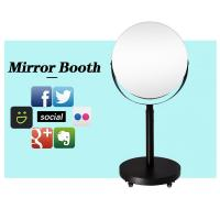 China White Height Adjustable Circle Selfie Box Magic Mirror Photo Booth Beauty Led Lighted Oval on sale