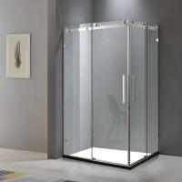 Buy cheap Stainless steel shower enclosure 1000*1000 with two sliding doors and two fixed from wholesalers