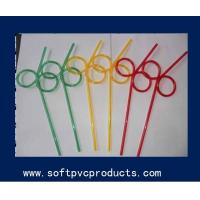 China Colorful Customized Drinking Straw Holder / Flexible Drinking Straws for Bar on sale