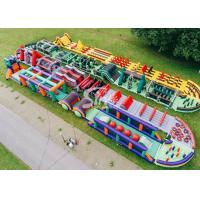 Wholesale 185 Meters Long Big Adults Inflatable Obstacle Course Course From Guangzhou Inflatables Factory from china suppliers