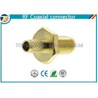 Wholesale Female Bulkhead Coaxial Connector  50 Ohms for 1.13mm / 1.32mm / 1.37mm Cable from china suppliers