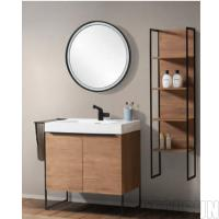Wholesale Modern Single Sink Style Metal Frame Bathroom Wash Basin Home Cabinet Bath Vanity Prime Design Hotel Home Center from china suppliers