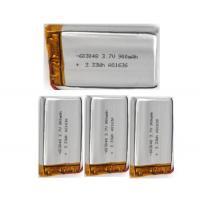 Wholesale 3.7V 900mah Rechargeable Lithium Polymer Battery 603048 , 6.0mm Thickness from china suppliers