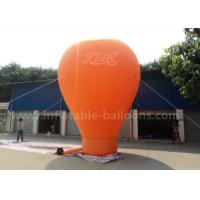 Best Orange / Red / Blue Ground Custom Inflatable Balloons 6m 420D Oxford Cloth wholesale