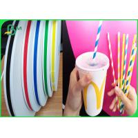 China Food Grade Ink Printed Paper For Drinking Straws 60gsm Last Long Time on sale