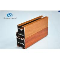 Wholesale Nature Polishing Custom Aluminum Door Frame Extrusions Wood Grain Cutting from china suppliers