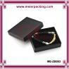 Euro popular black coated paper jewelry gift box/Men bracelet paper box ME-ZB003 for sale