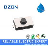 Normally Closed Waterproof Tactile Switch Black Soft Button With Long Travel for sale