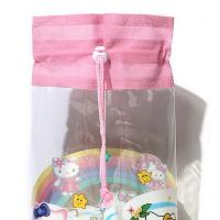 Wholesale Heat Sealed Technics Clear Drawstring Bags , Small Drawstring Bags For Cosmetics from china suppliers