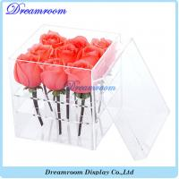 Wholesale Acrylic Flower Box Vase for Wedding and Home 9 Hole 2 Tiers Handmade from china suppliers