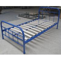 Sing size metal frame bed, with eco-friendly wood slats,color customized