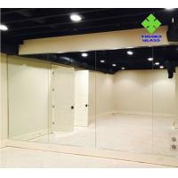 Safety Silver Wall Mirror , Full Wall Dance Wall Mirrors Customized Size for sale
