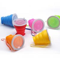 China Portable Food Grade Silicone collapsible travelling usage foldable cup on sale
